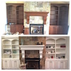 Before and After: Shelves and Mantle
